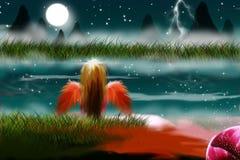 Mysterious fairy. Story theme illustration vector illustration