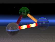 3 mysterious fastened ball. 3d illustration: 3 mysterious fastened ball royalty free illustration