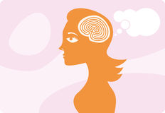 The mysterious female brain royalty free stock photography
