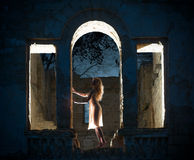 Mysterious female figure Royalty Free Stock Images