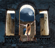 Mysterious female figure Royalty Free Stock Photo