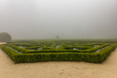 Mysterious foggy garden Portugal Stock Photo