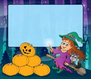 Mysterious forest Halloween frame 2 Stock Images