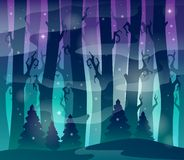 Mysterious forest theme image 1 Royalty Free Stock Photos