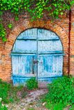 Mysterious gate. Magic here : picturesque door of the neglected building Royalty Free Stock Photography