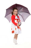 Mysterious girl under the umbrella. Stock Photo