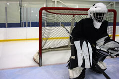 Mysterious goalie Royalty Free Stock Image