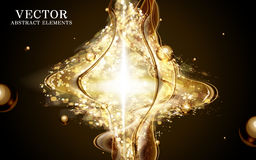 Mysterious golden light flow Stock Photography