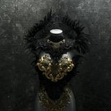 Mysterious Gothic Style Handmade Dress With Black Lace Fabrics A Royalty Free Stock Photography