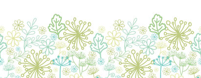 Mysterious green garden horizontal seamless Stock Photography