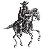 Mysterious horseman Royalty Free Stock Images