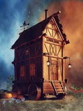 Mysterious house on wheels Royalty Free Stock Photos