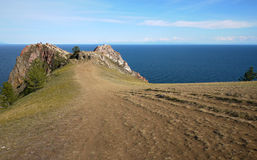 The mysterious island of Olkhon on lake Baikal. The landscape of Royalty Free Stock Photo