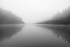 Mysterious lake Royalty Free Stock Images