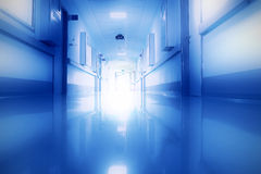 Mysterious light in the corridor Stock Photo