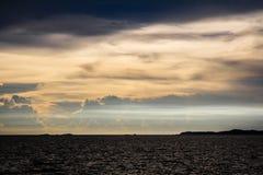 Mysterious Light. On the sea stock photos