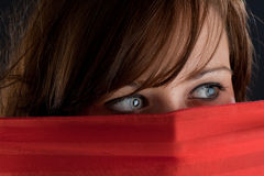 Mysterious look stock photography