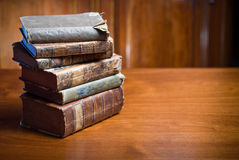 Mysterious looking anceint books. Royalty Free Stock Photography