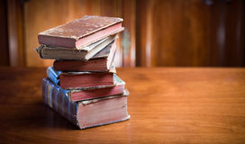 Mysterious looking anceint books. Stock Image