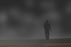 Mysterious man. In a mist Royalty Free Stock Photography