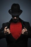 Mysterious man retro portrait Royalty Free Stock Images