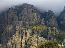 Mysterious mountain Demerdzhi in Crimea. Bottom view Royalty Free Stock Photos