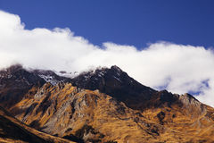 Mysterious Mountains. Beautiful mountains at New Zealand Stock Image