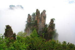 Mysterious Mountains Zhangjiajie. Royalty Free Stock Images
