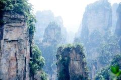 Mysterious mountains Zhangjiajie, HUnan Province in China. Stock Photos