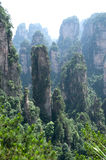 Mysterious mountains Zhangjiajie, Hunan Province in China. Stock Image