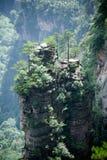 Mysterious mountains Zhangjiajie, Hunan Province in China. Mysterious mountains in Wulingyuan Scenic area part of Zhangjiajie National Forest Park, Hunan Royalty Free Stock Images