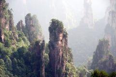 Mysterious mountains Zhangjiajie, Hunan Province in China. Stock Photography