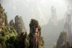 Mysterious mountains Zhangjiajie, Hunan Province in China. Royalty Free Stock Photography