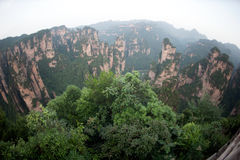 Mysterious mountains Zhangjiajie, Hunan Province in China. Stock Images