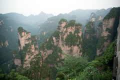 Mysterious mountains Zhangjiajie, Hunan Province in China. Royalty Free Stock Image
