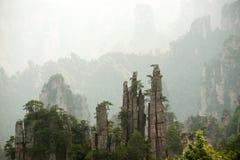 Mysterious Mountains Zhangjiajie, Hunan Province In China. Stock Photo