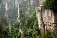 Mysterious Mountains Zhangjiajie, Hunan Province In China. Royalty Free Stock Photo