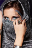 Mysterious muslim woman Royalty Free Stock Photo