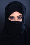 Mysterious Muslim woman Stock Photo