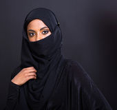 Mysterious muslim woman Stock Images