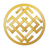 Mysterious mysterious ancient Slavic symbol of good fortune, wealth, happiness. Stock Photo