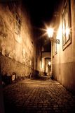 Mysterious narrow alley Stock Image