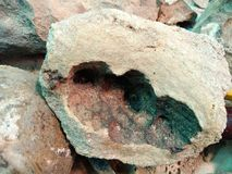 Cavity on rock. Mysterious natural cavity on rock background Royalty Free Stock Photos