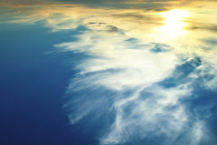 Mysterious night sky. Mysterious night sky with clouds and the sun in the summer stock image