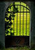 Mysterious old gate Royalty Free Stock Image