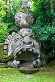 Mysterious park of Monsters of Bomarzo- royalty free stock photos