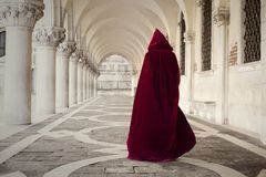 Free Mysterious Person Walking In Old Palace Royalty Free Stock Photography - 126628837