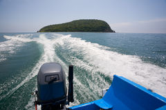 Mysterious Petrov island. Stock Photo