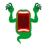 Mysterious phantom. Angry hungry spirit. Scary ghost shouts. Ho Royalty Free Stock Photography