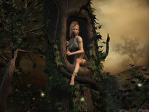 Mysterious Place. Nymph of the forest in a mysterious place Stock Images